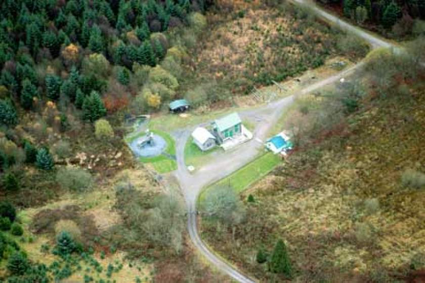 Picture of Daerwynno Outdoor Centre from the air